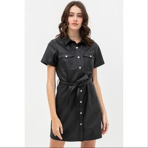 Black Dress With Over Shirt Silhouette